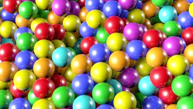 Animation  shiny, colored balls for children. 3d animation Animation  shiny, colored balls for children. 3d animation competition group stock videos & royalty-free footage