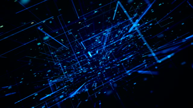 vídeos y material grabado en eventos de stock de animación 3d que muestra el procesamiento multinúcleo y los puntos de datos - equipo informático