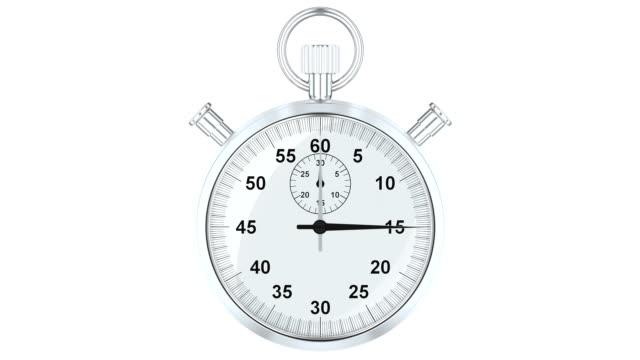 vidéos et rushes de chronomètre de l'animation, 3d rendering isolé sur fond blanc - cadran