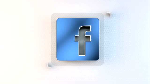 animation symbol of facebook animation symbol of facebook canvas fabric stock videos & royalty-free footage