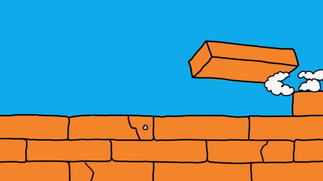 Animation Transition Brick Wall video