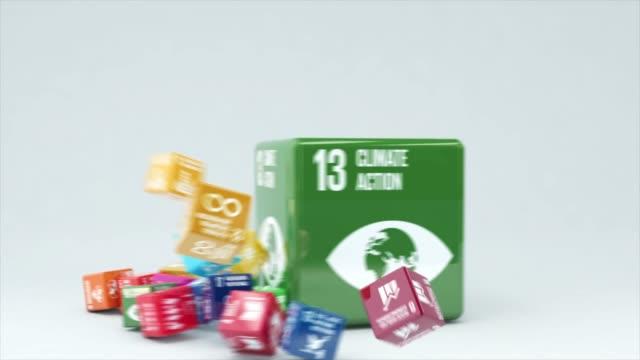 ボックス気候アクションを使用した3d アニメーション - environmentalism点の映像素材/bロール