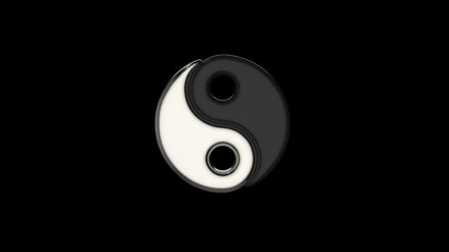 3D animation Yin Yang 3D animation liquid flowing Yin Yang symbol yin yang symbol stock videos & royalty-free footage