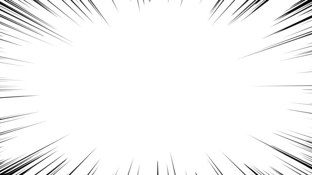 Anime Action Lines Overlay Fast-moving black motion lines on the white background in Japanese manga style. Seamlessly Looping Animated Background. cartoon stock videos & royalty-free footage
