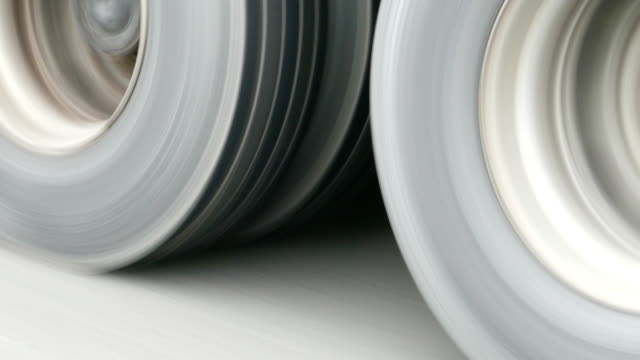 ankara - istanbul highway and tyres - truck tire video stock e b–roll