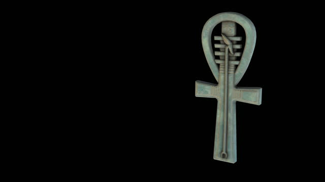 Ankh amulet - rotation zoom out video