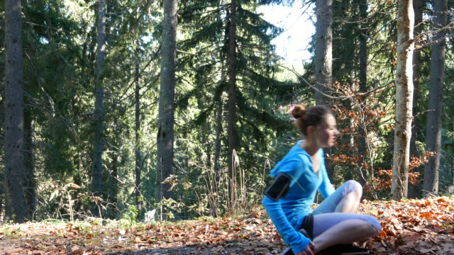 Ankle injury Girl running in the woods and experiencing a painful ankle injury ankle stock videos & royalty-free footage