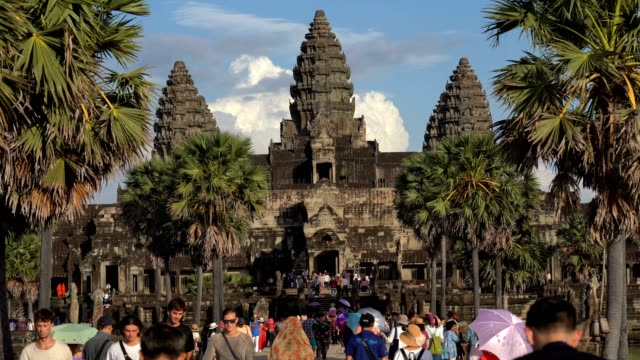 ankor wat, siem reap, cambogia - wat video stock e b–roll