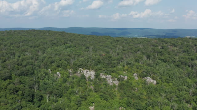 Annapolis Rock - South Mountain - Washington County, Maryland - Dolly Out - Aerial