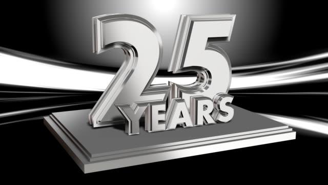 jubiläum 25 jahre-loop-titel - zahl 25 stock-videos und b-roll-filmmaterial