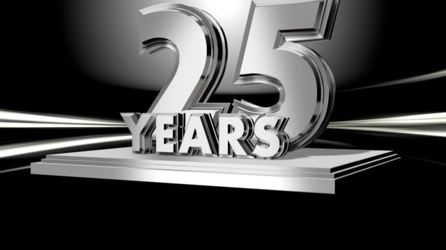 jubiläum 25 jahre-tuch übergang - zahl 25 stock-videos und b-roll-filmmaterial