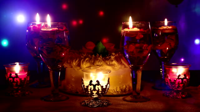 Anniversary Celebration with candlelight