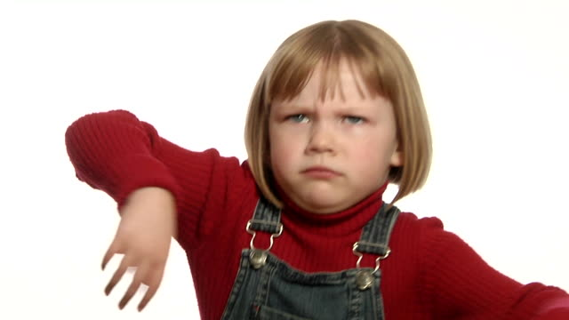 Annoyed little girl  stamping feet stock videos & royalty-free footage