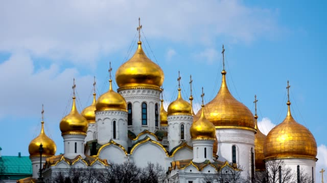 Annunciation Cathedral in the Moscow Kremlin, timelapse video