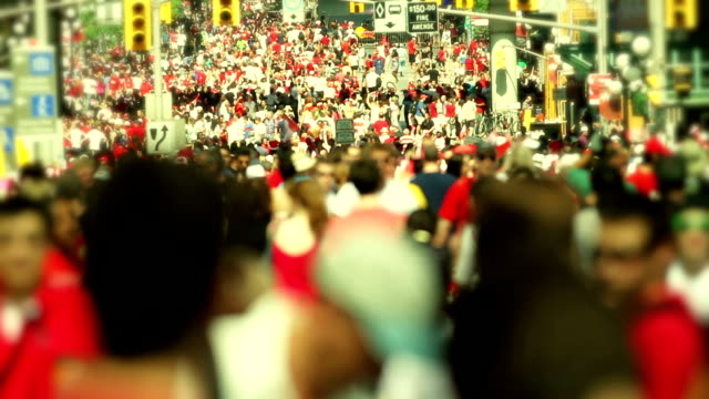 anonymous crowd - canada day stock videos & royalty-free footage