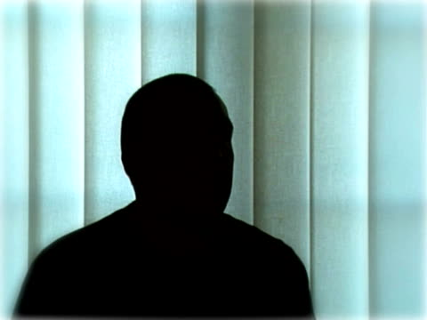 Anonymous Interview Silhouette crime or victim video