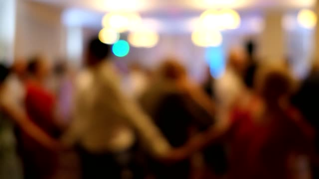 Anonymous People Dancing at Wedding Party Bokeh video