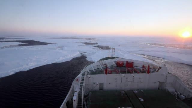 Lámina de hielo antártica Cruising - vídeo