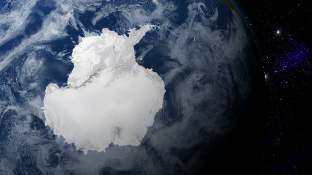 Antarctica from space video