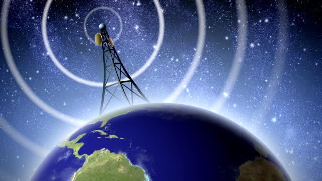 vidéos et rushes de antenne de radio signal - transmission