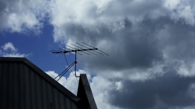 TV Antenna on a Rooftop video