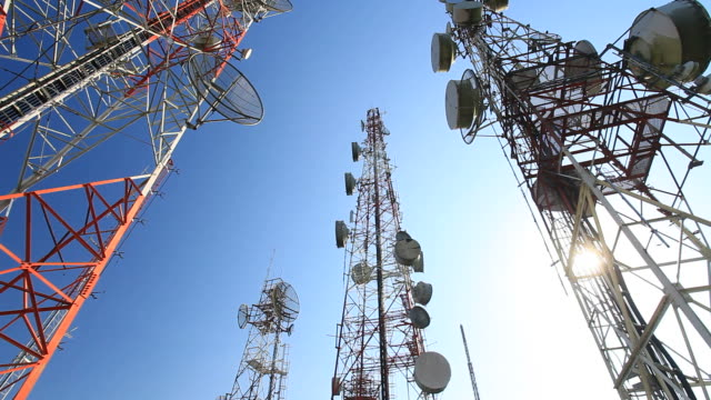 HD CRANE : antennas support tower video