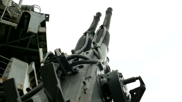 anti-aircraft gun of old military ship