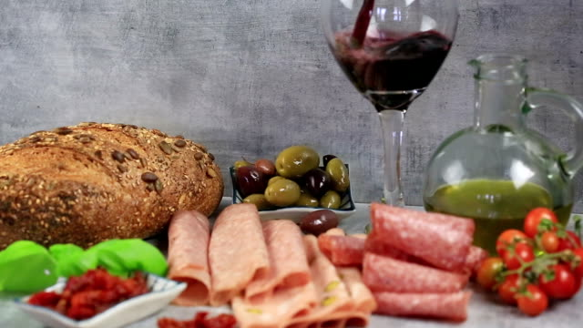 Antipasto and Wine. video