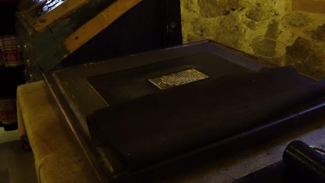 antique cliche for parchment printing