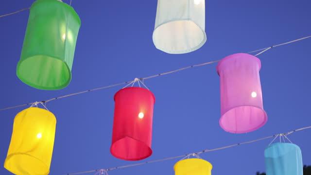 Antique lantern in loi krathong festival