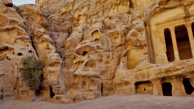 Antique Nabatean Temple in Siq al-Barid / Jordan video