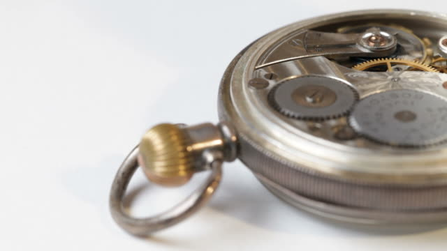 Antique pocket watch mechanism video