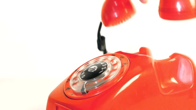 antique red phone video