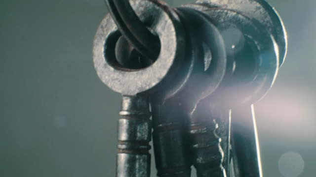 antique skeleton keys - key ring stock videos & royalty-free footage