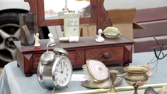 アンティーク フェア - 骨董品点の映像素材/bロール