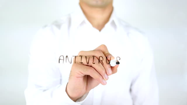 Antivirus, Man Writing on Glass video