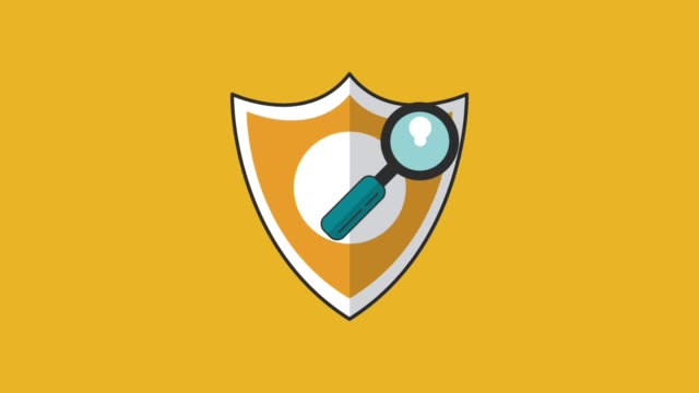 Antivirus security system HD animation