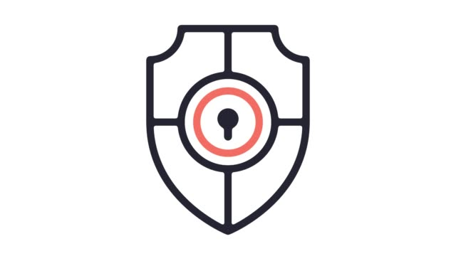 Antivirus Software Line Icon Animation with Alpha Antivirus software motion graphic line icon animation. Alpha channel will be included when downloading the 4K Apple ProRes 4444 file only. shield stock videos & royalty-free footage