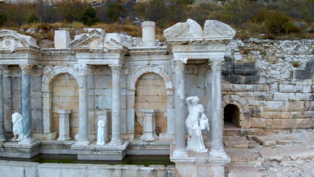 Antonine Nymphaeum / Fountain at Sagalassos , Close Truck Shoot