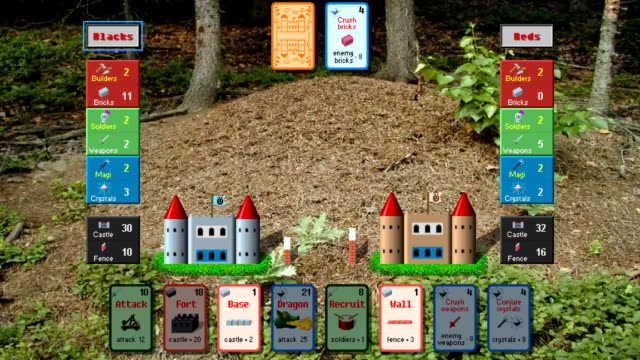 Ants, retro style low resolution pixelated card game graphics animation video