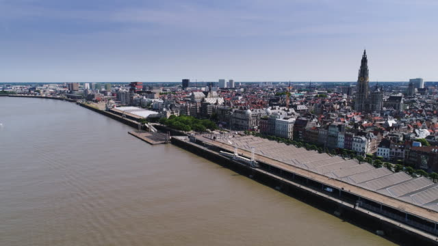 antwerp aerial series part one - belgio video stock e b–roll