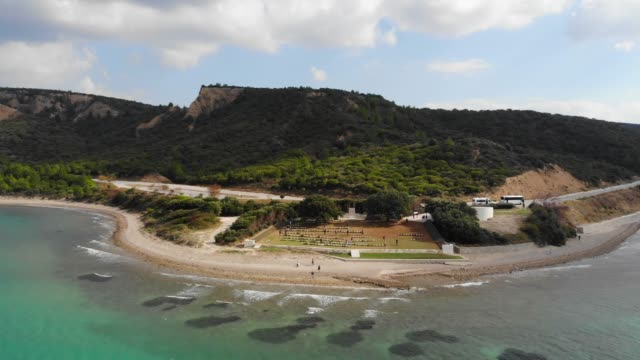 Anzac Cove. Anzac Cove is a small cove on the Gallipoli peninsula in Turkey. It became famous as the site of World War I landing of the ANZACs on 25 April 1915. çanakkale province stock videos & royalty-free footage
