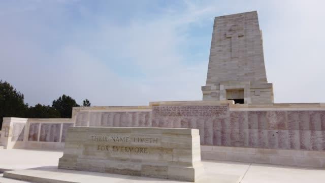 Anzac Memorial, Lone Pine Monument Gallipoli, Canakkale, Turkey çanakkale province stock videos & royalty-free footage