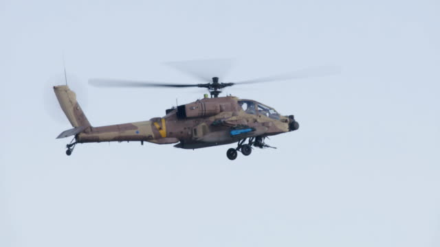 Apache military helicopter firing hellfire missile video