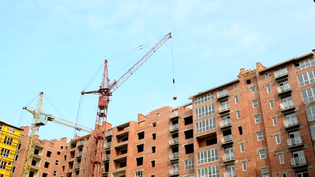 Apartment building. Shooting of a house, construction moment. video