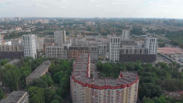 condomini paesaggio urbano - ucraina video stock e b–roll