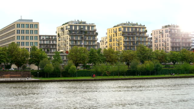 Apartment Houses in Frankfurt, time lapse video