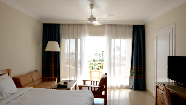 Apartment interior with working ventilator video