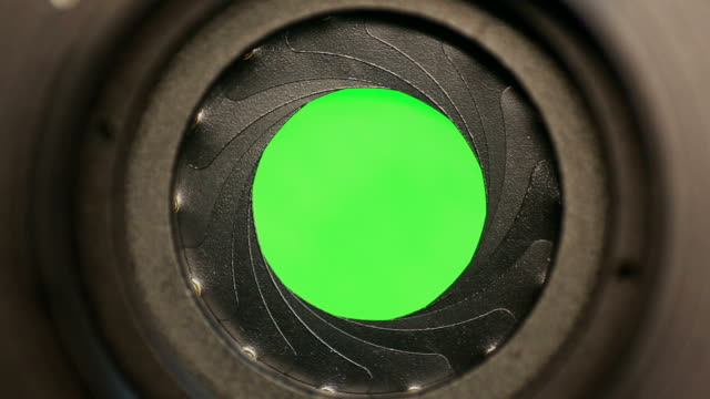 Aperture transitions Camera Shutter Blades Green Screen Transitions camera photographic equipment stock videos & royalty-free footage