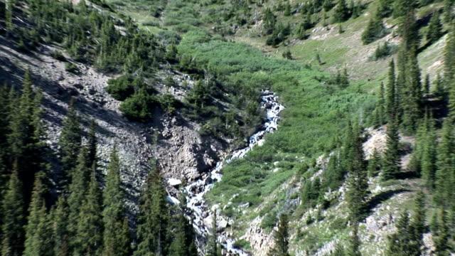 vídeos de stock, filmes e b-roll de apline stream e big mountain - condado de pitkin